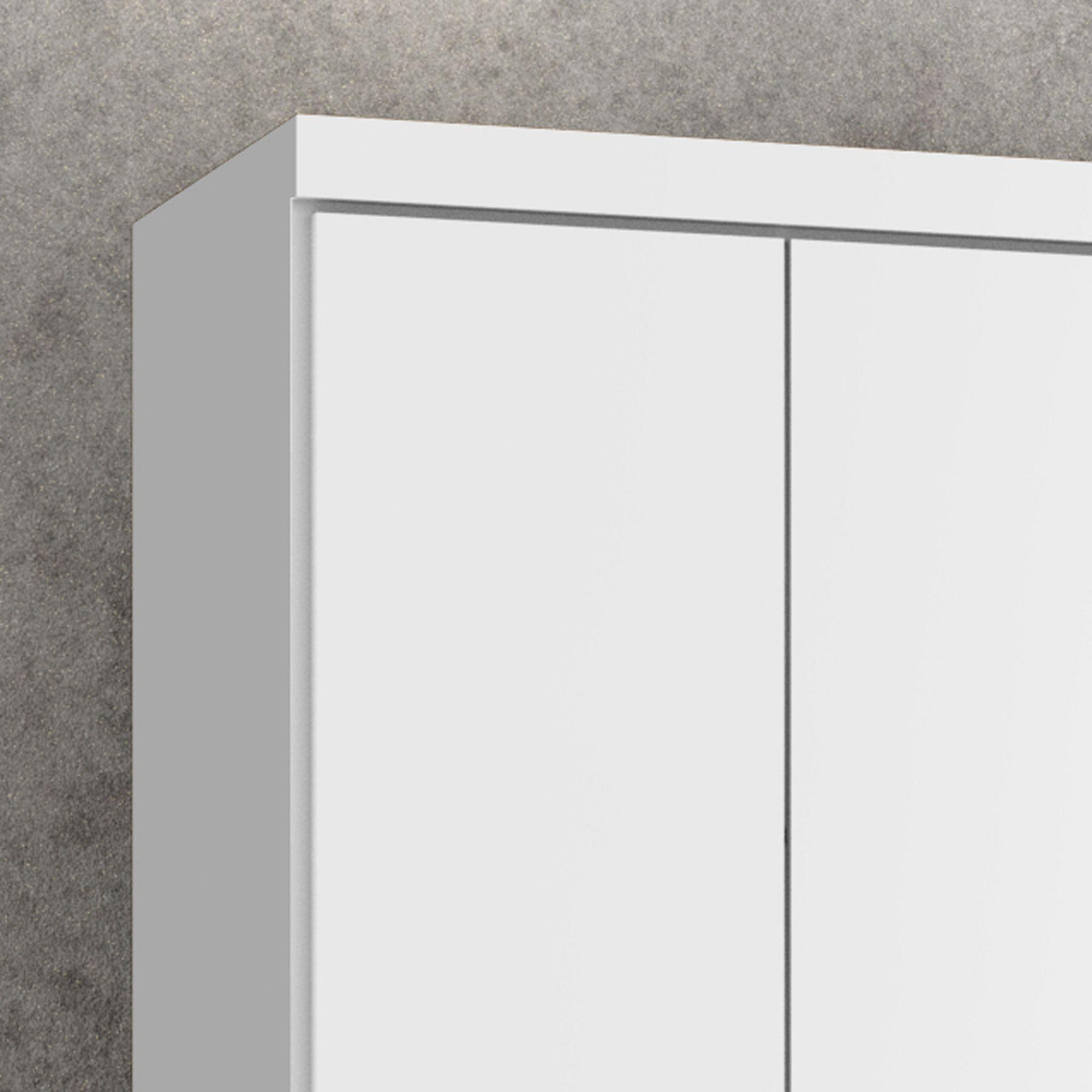Guarda-Roupa Dallas 6 Portas Branco Acetinado - Germai Móveis
