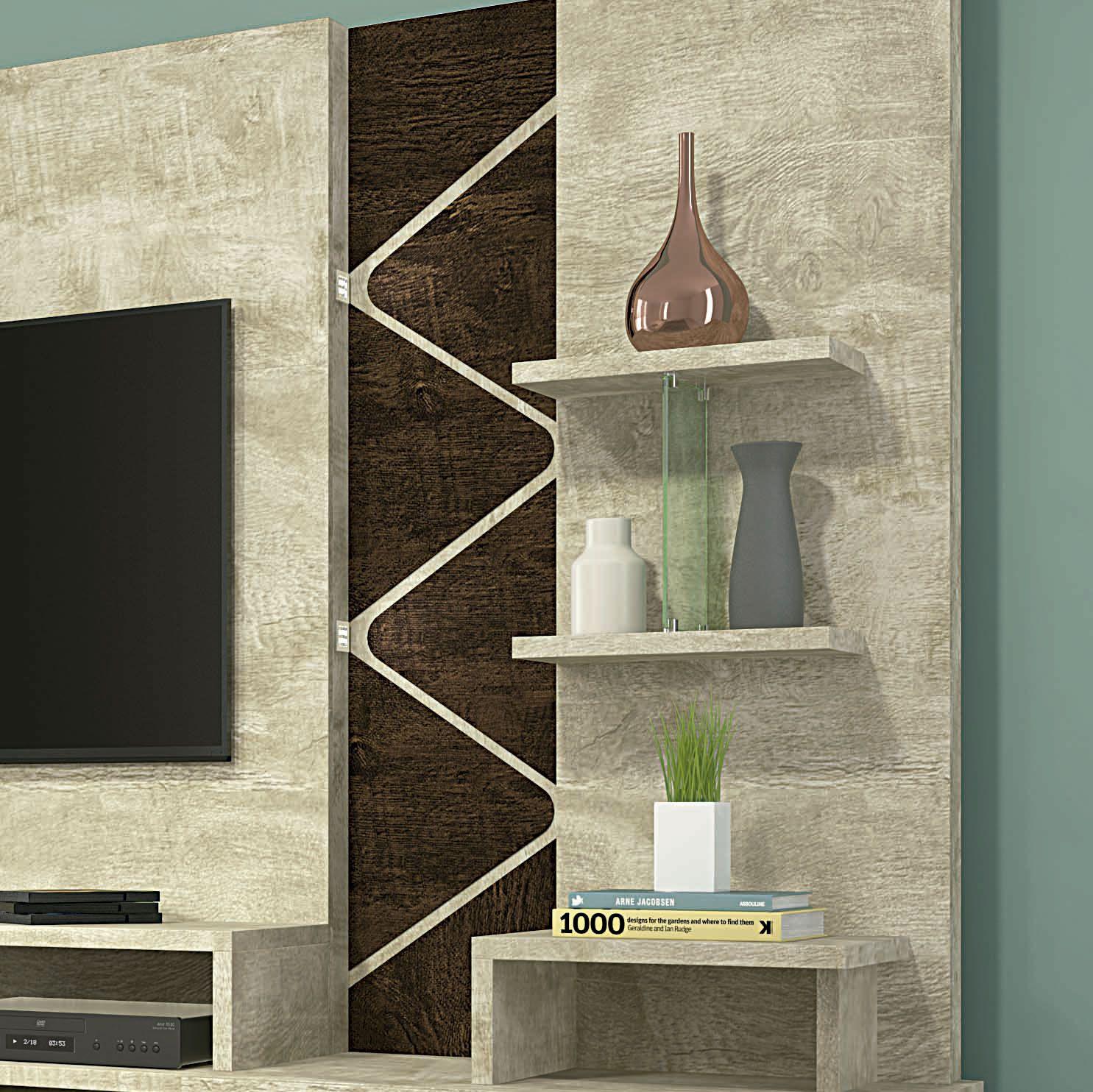 Home Para Tv Até 55 Polegadas Rovere / Noce Cross