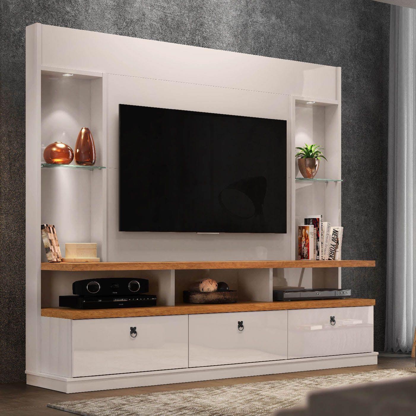 Home Para Tv Até 55 Polegadas Off White/Amêndoa Dinamarca