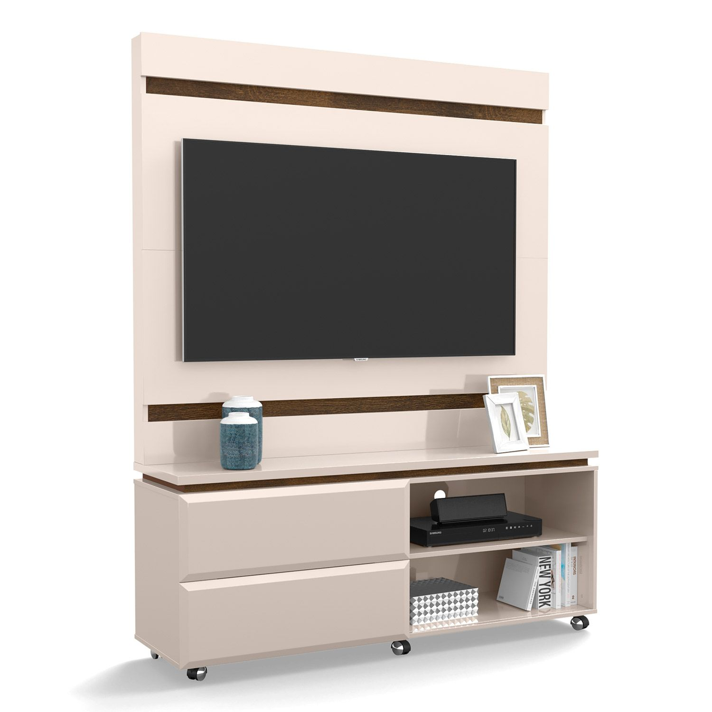 Home Para Tv até 50'' Off White / Canela Allegro