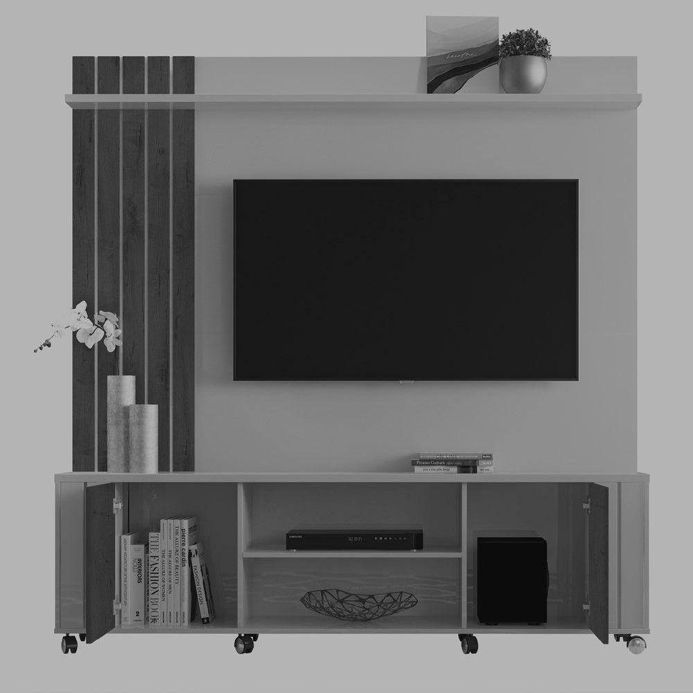 Home Para Tv até 55'' Mad. Castanho / Off White Ravello