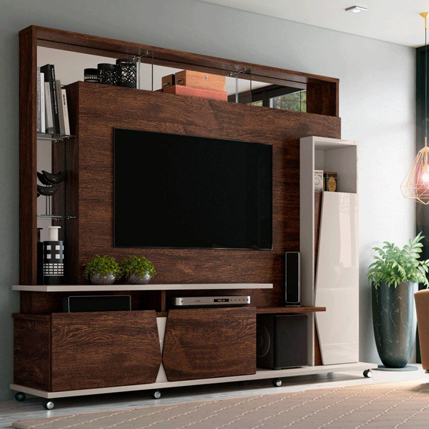 Home para tv até 55'' Noce / Off White Intense