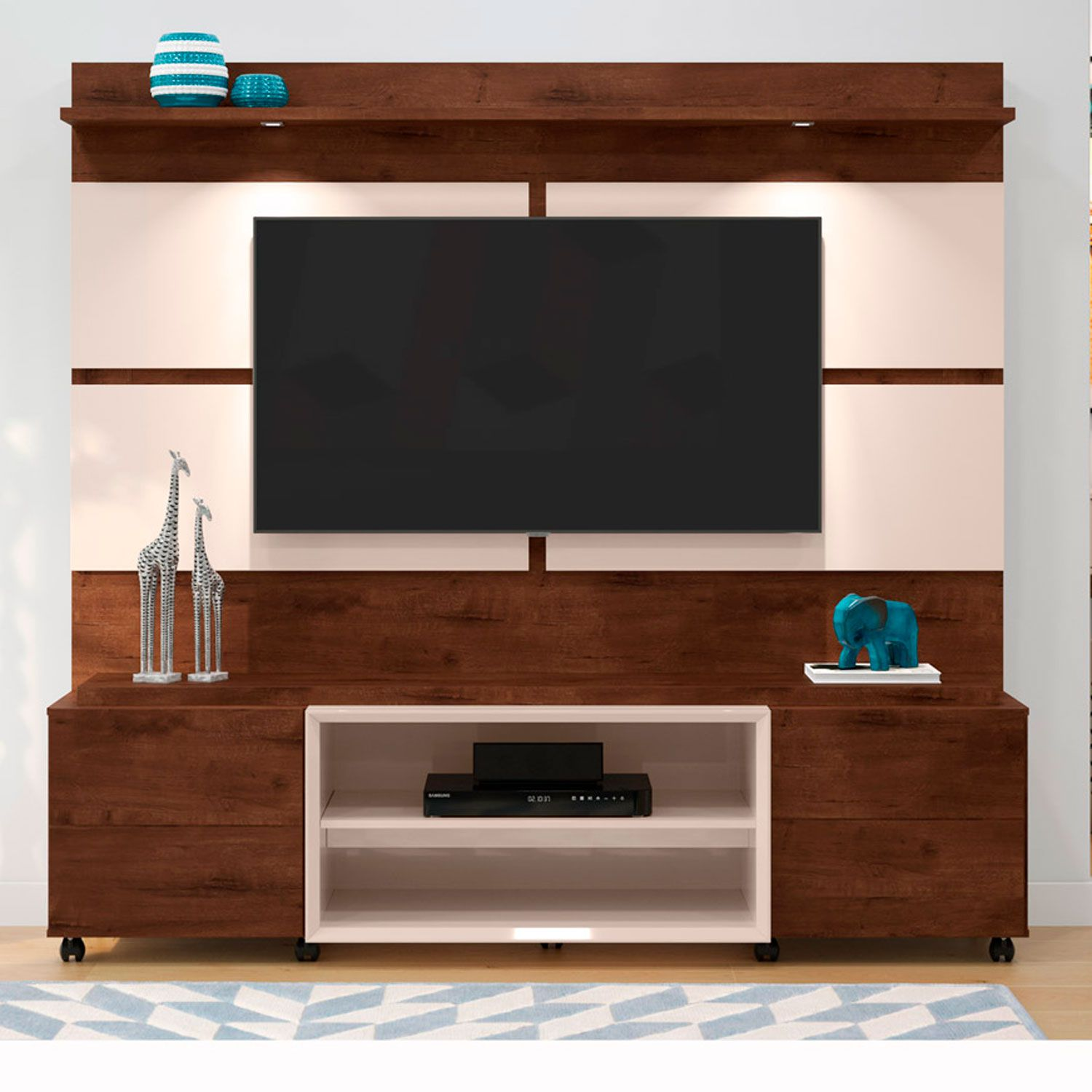 Home Para Tv até 60'' Madero Noce / Off White Bless 1.8