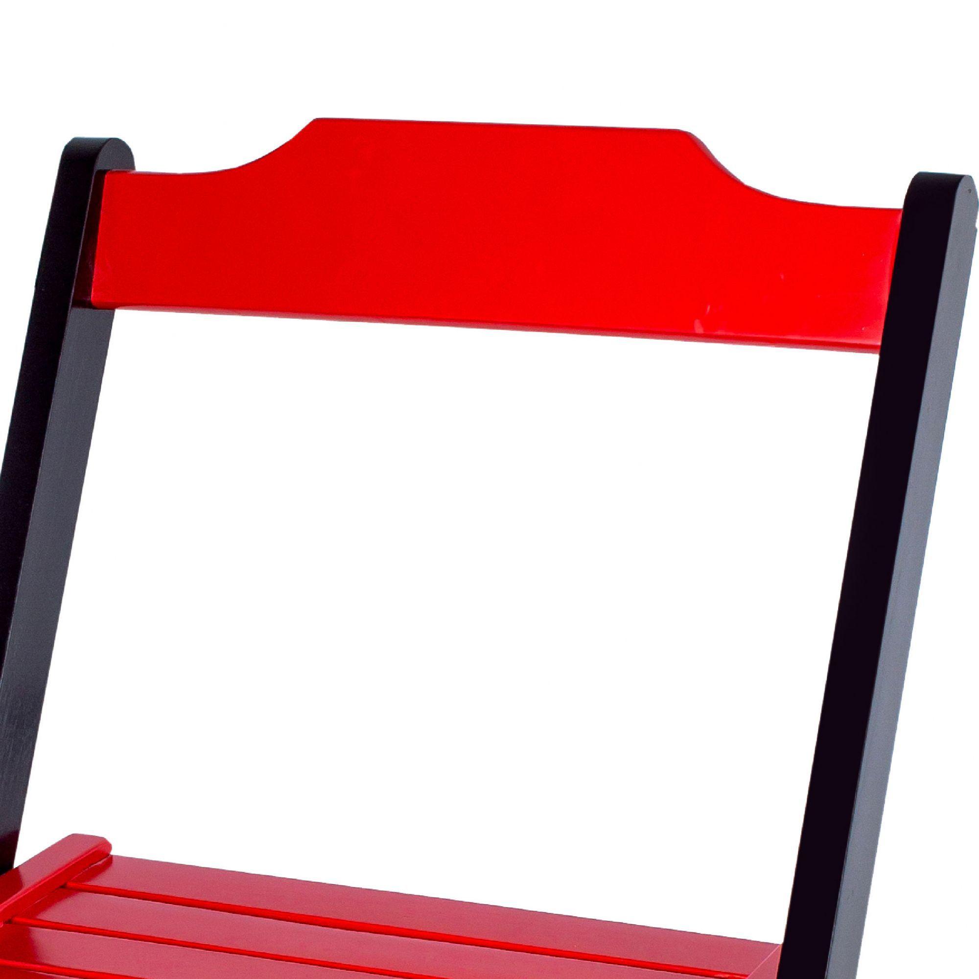 Jogo 4 Cadeiras para Sorveteria Vermelho Dobráveis