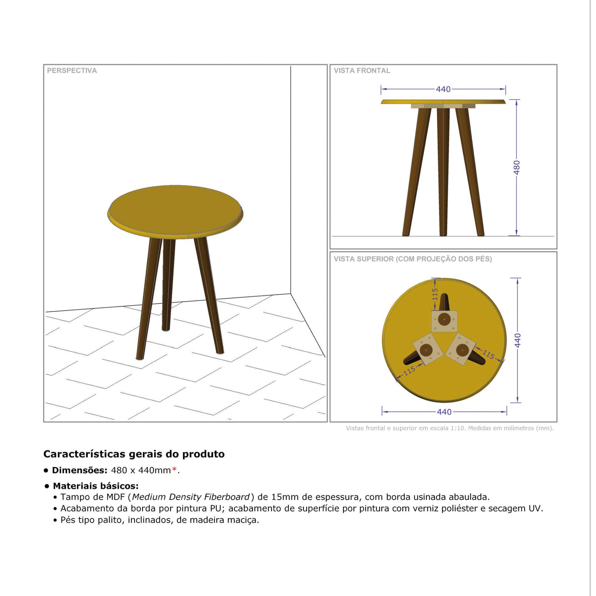Kit Mesas Laterais Amarelo