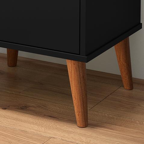 Mesa de Cabeceira Wood Preto - EJ Móveis