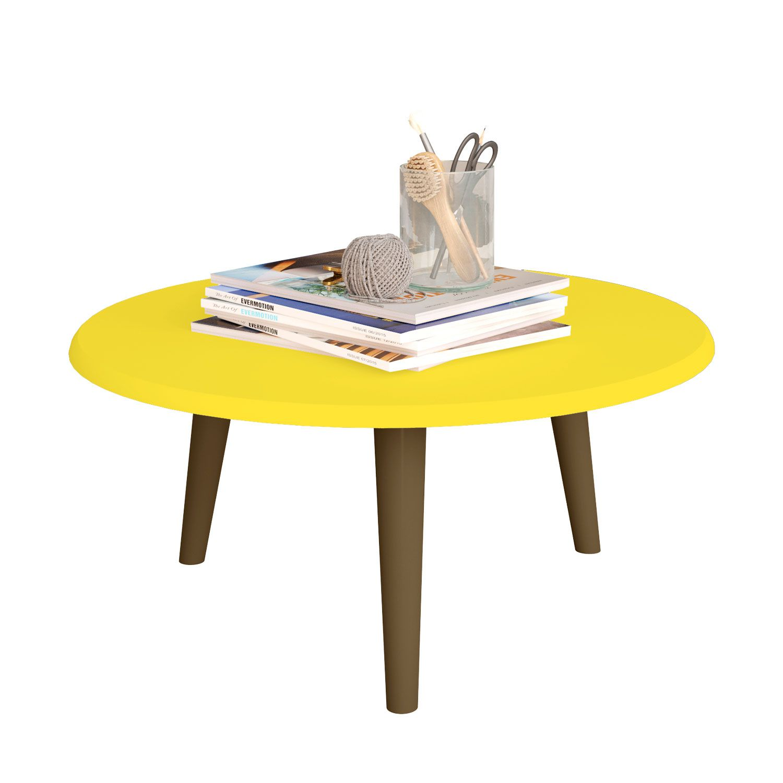 Mesa de Centro Amarelo - Móveis Bechara
