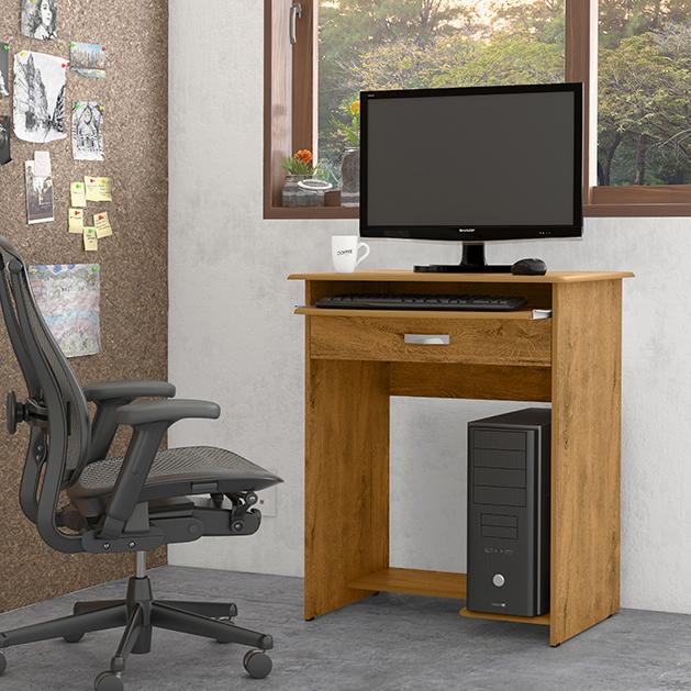 Mesa de Computador Pratica C/ Gaveta Freijó -  EJ Móveis