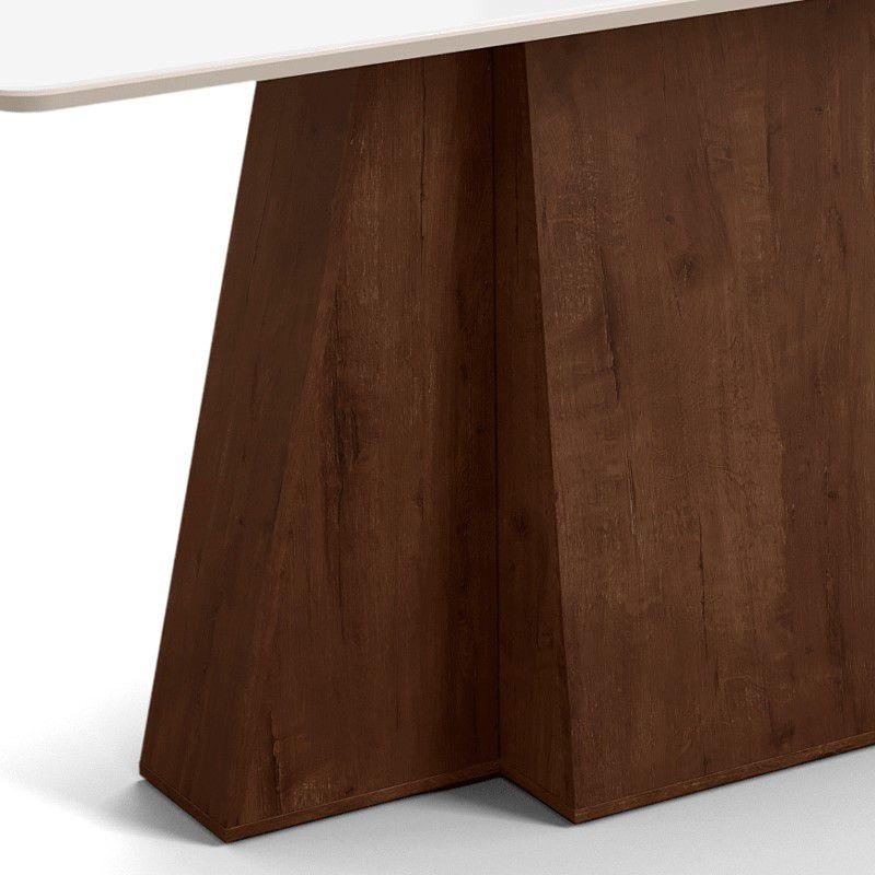 Mesa de Jantar Amalfi Noce / Off White
