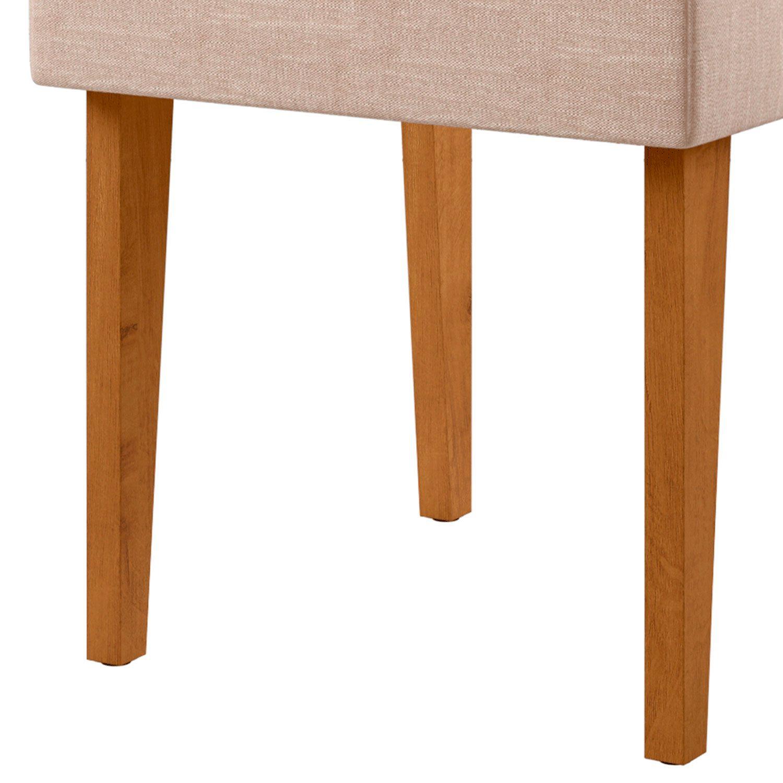 Mesa de Jantar Com 6 Cadeiras Amalfi Canela / Off White
