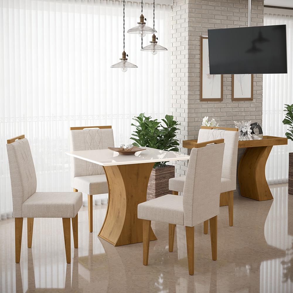 Mesa de Jantar Gabrielle Canela / Off White