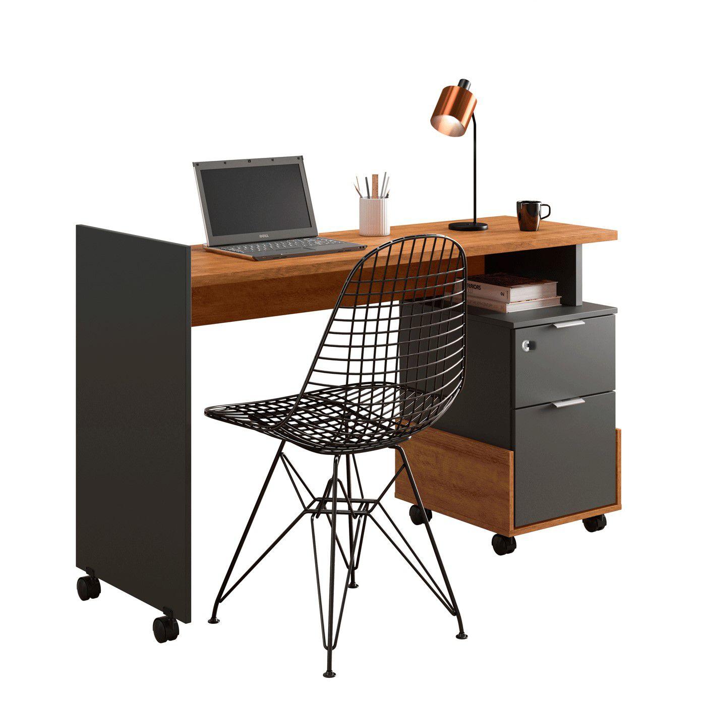 Office Alessa M1 Amêndoa / Chumbo