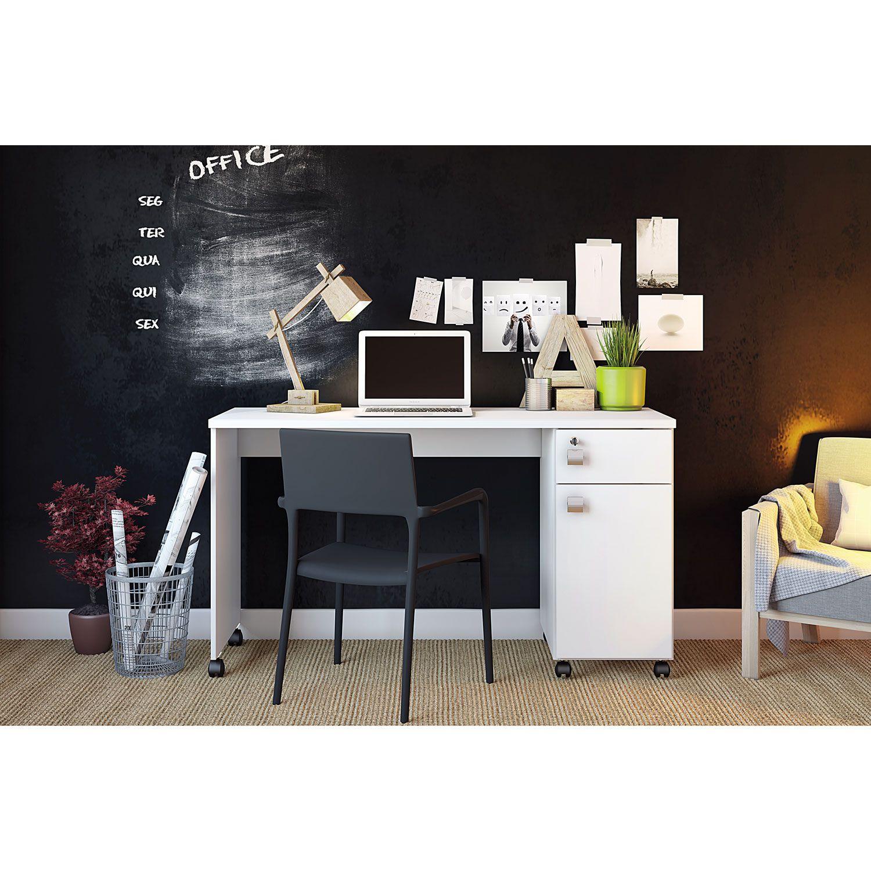 Office com Gaveta Branco Brilho Malta