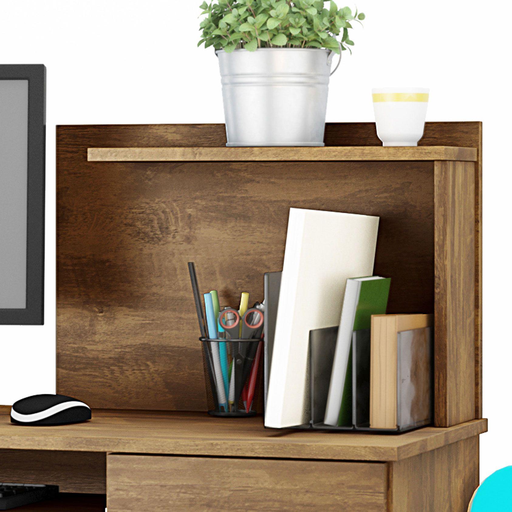 Mesa Para Computador com Gaveta Canela Studio
