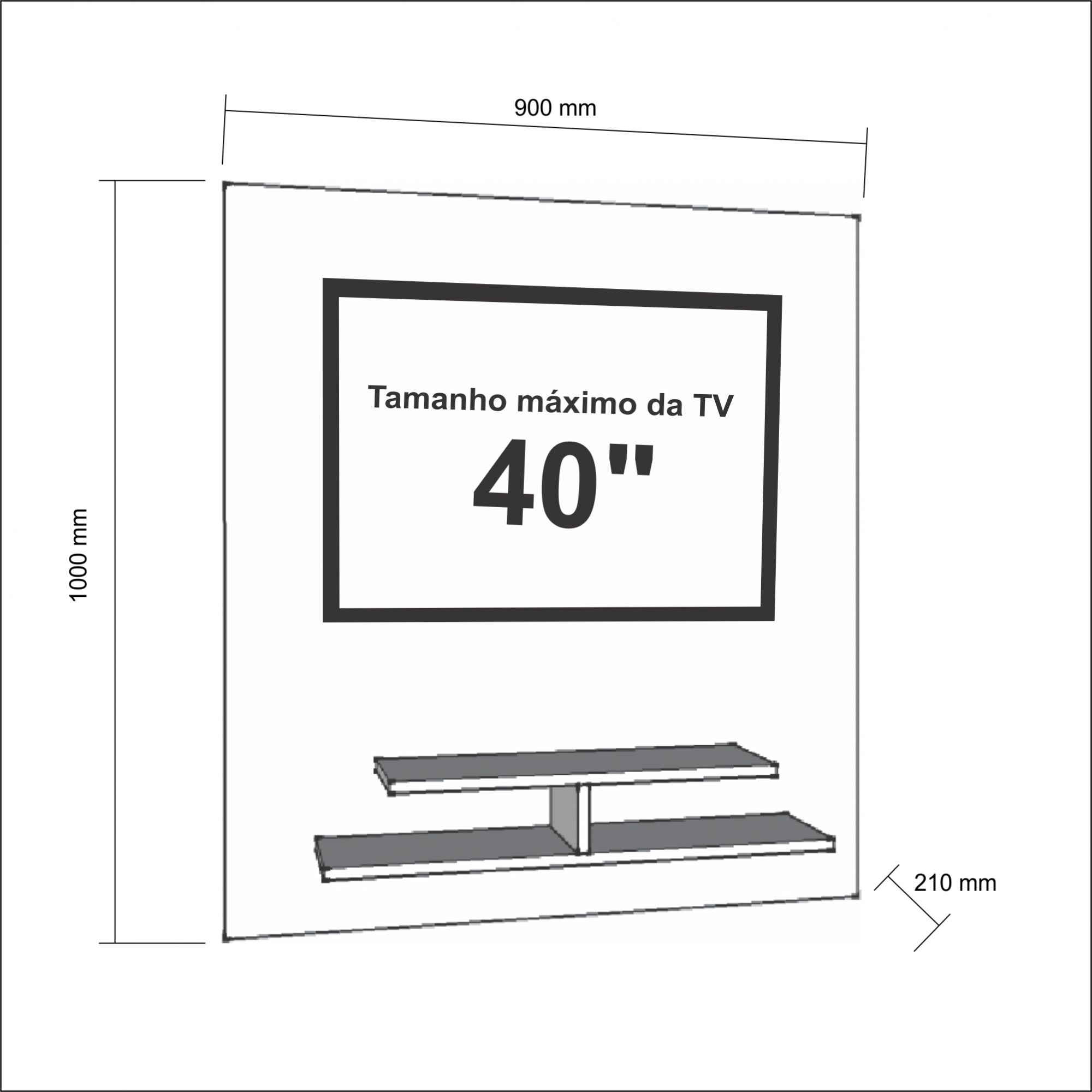 Painel para TV até 40 Polegadas 5019 Canela