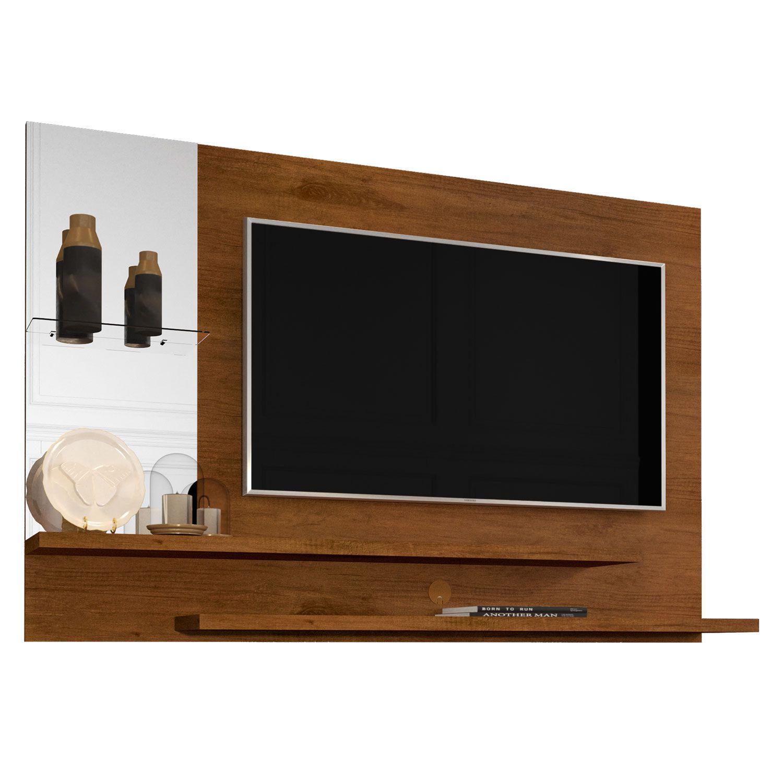 Painel com Espelho para TV até 42 Polegadas 5008 Caramelo