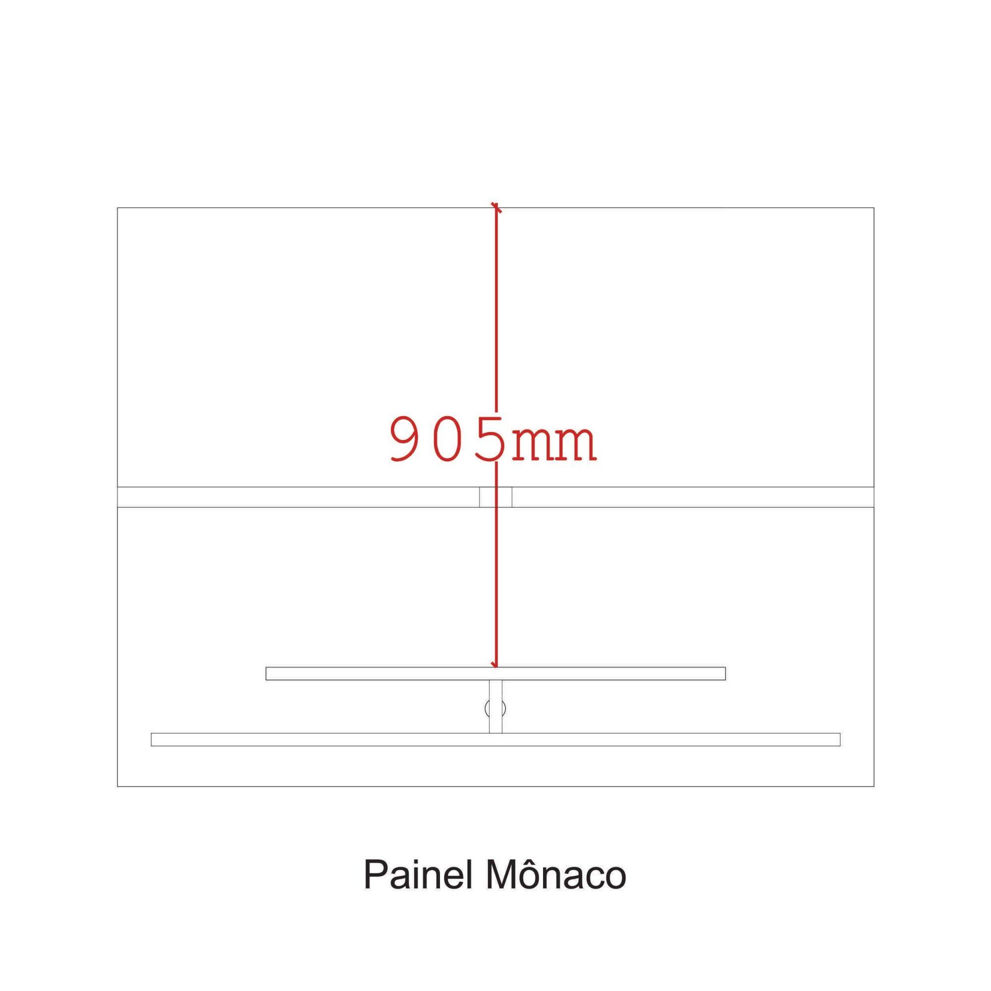 Painel para tv até 55'' Noce Mônaco New