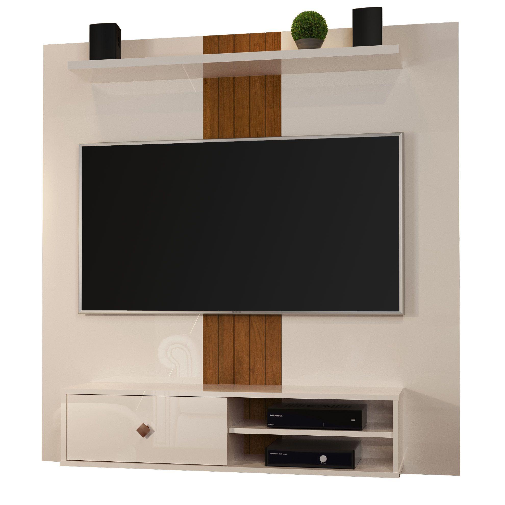 Painel para TV até 55 Polegadas 5024 Pérola/Caramelo