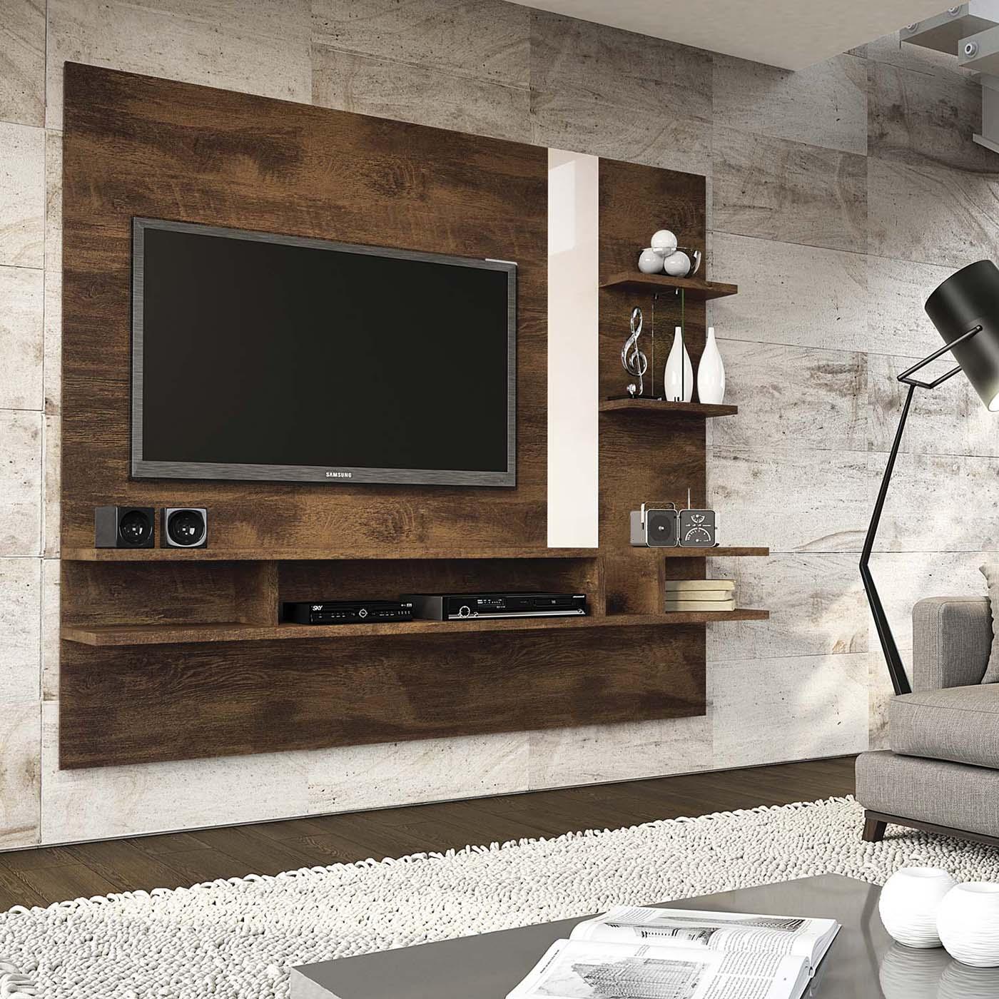 Painel para tv até 55'' Canela / Vanilla Cross