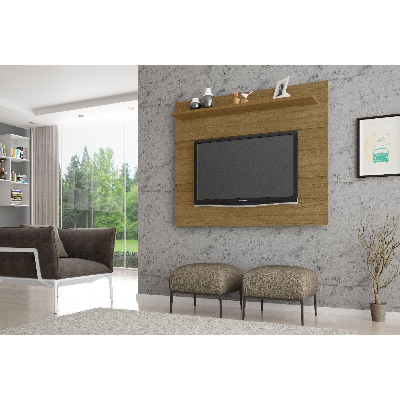 Painel para tv até 55'' Safira Cinamomo - Móveis Bechara