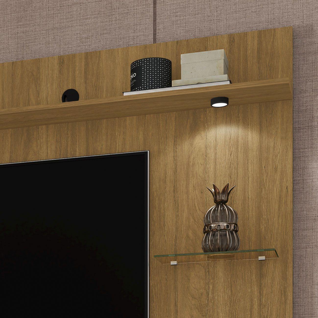Painel para tv até 55'' Ubatuba Cinamomo - Móveis Bechara