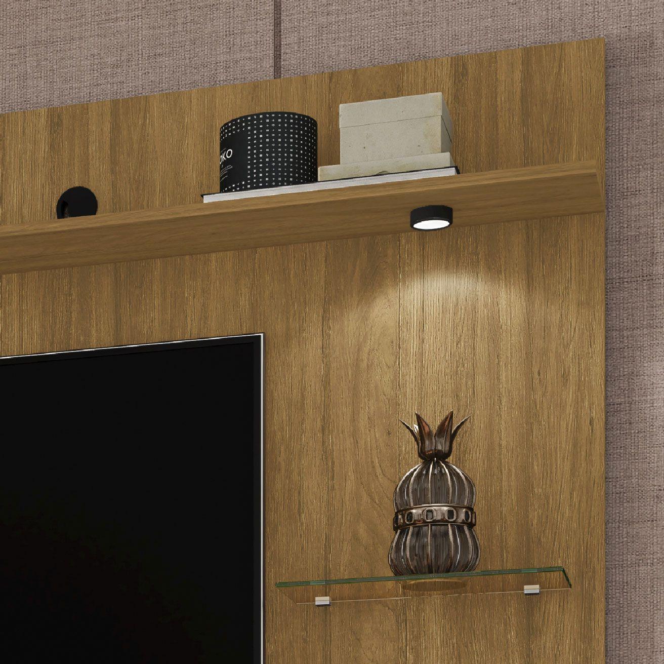 Painel para tv até 55'' Ubatuba com Espelho Cinamomo - Móveis Bechara