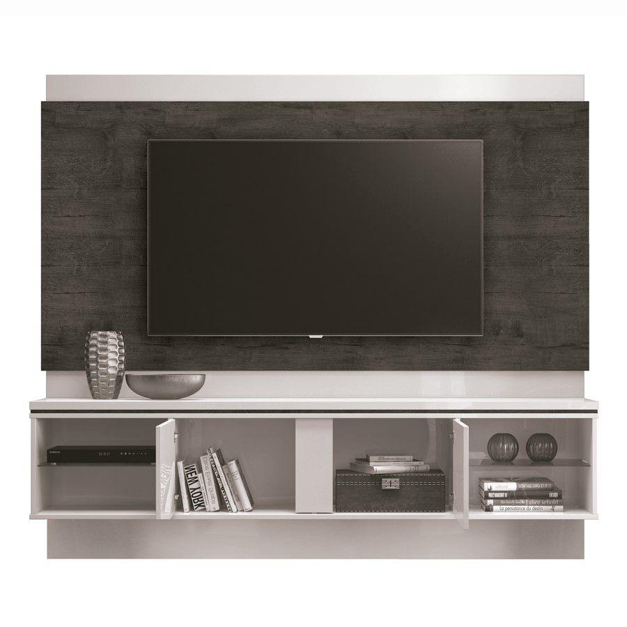 Painel para tv até 60'' Off White / Noce Oregon