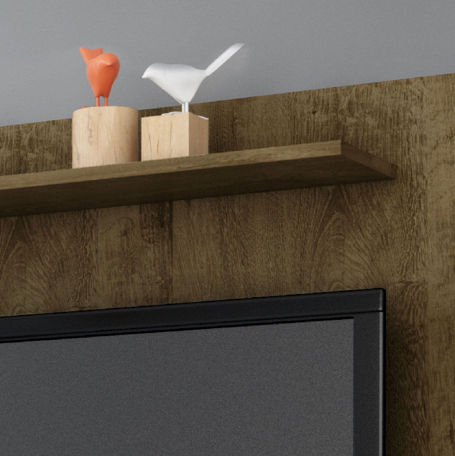 Painel para tv de ate 47 Gama Madeira Rustica - Moveis Bechara