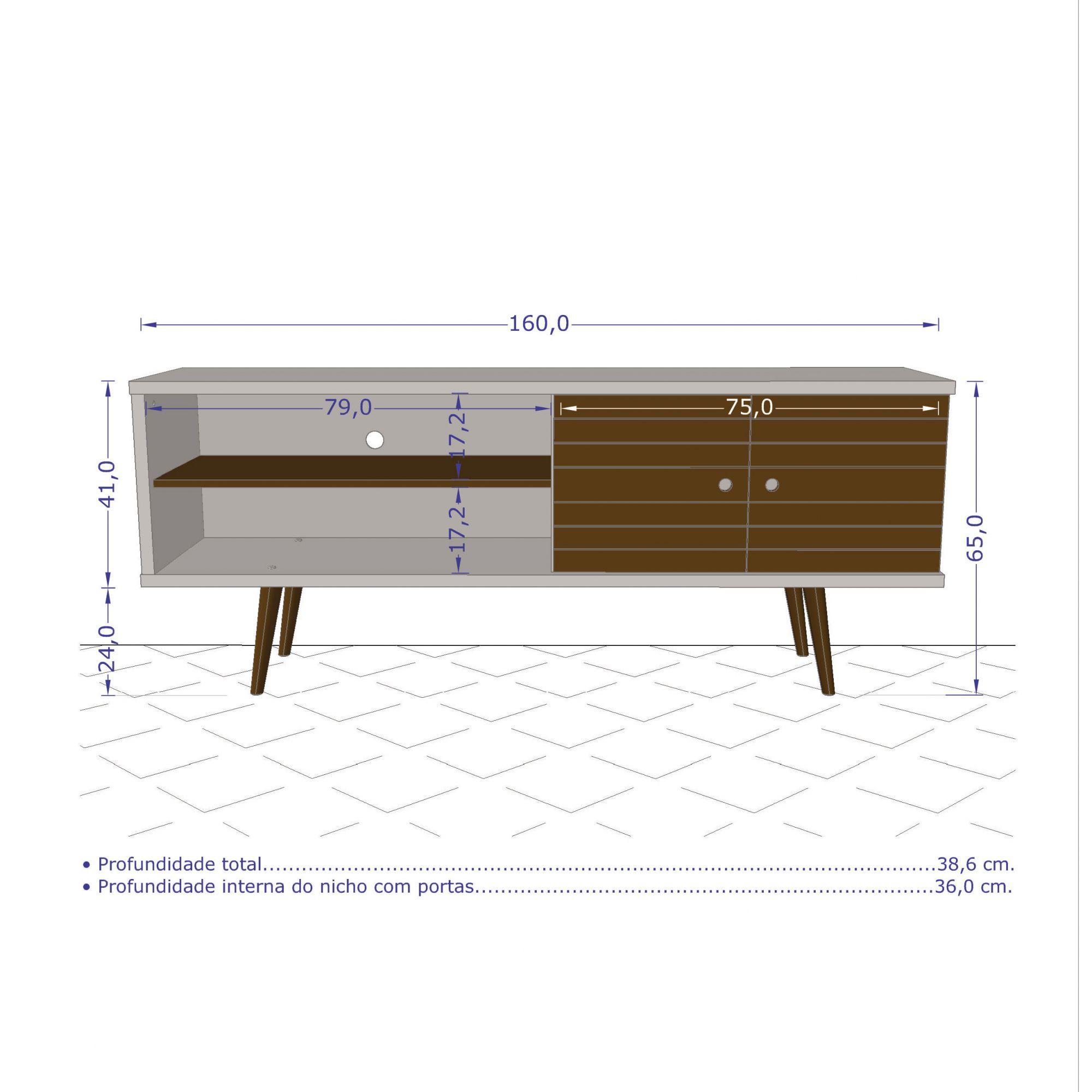 Rack Onix Madeira Rustica / Madeira 3D - Moveis Bechara