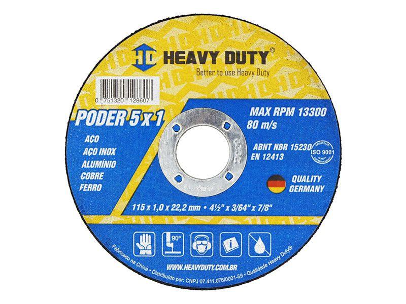 Disco de Corte Inox 5x1 115X1,0X22,2 - 50 PÇS