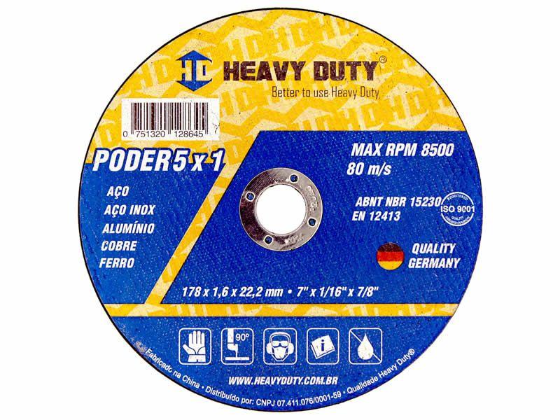 Disco de Corte Inox 5x1 177,8X1,6X22,2 - 1 PÇS