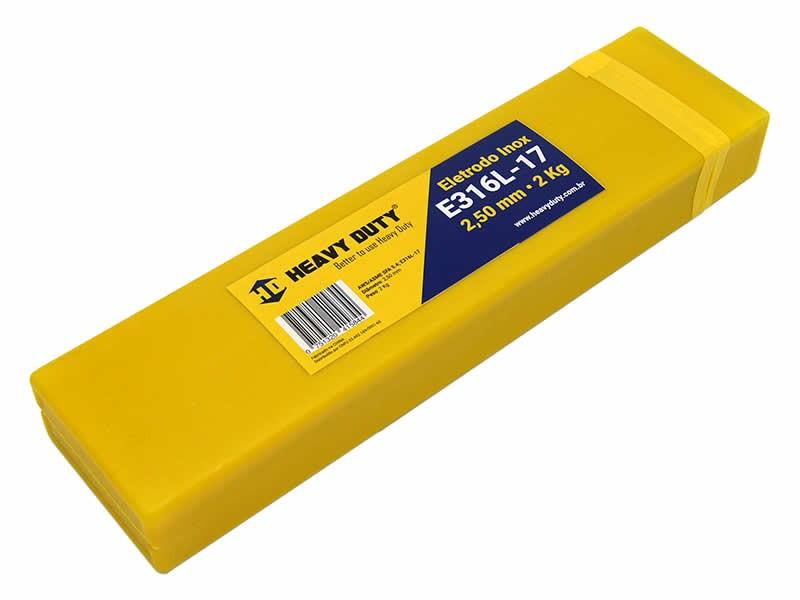 Eletrodo de Solda Inox E316L-17 2,50 MM - 2 KG