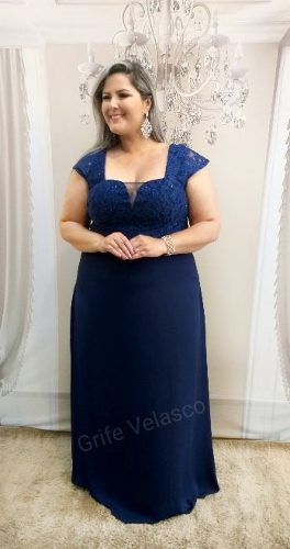 Vestido de festa azul royal