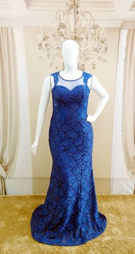 a789a258c8 Vestido Festa Longo Azul Royal - Madrinha, Casamento Gg - Grife Velasco