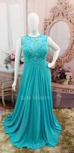 Azul tiffany vestido de festa