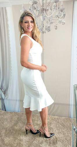 7edc0c6ae6 ... Vestido Curto Branco Elegante Casamento Civil
