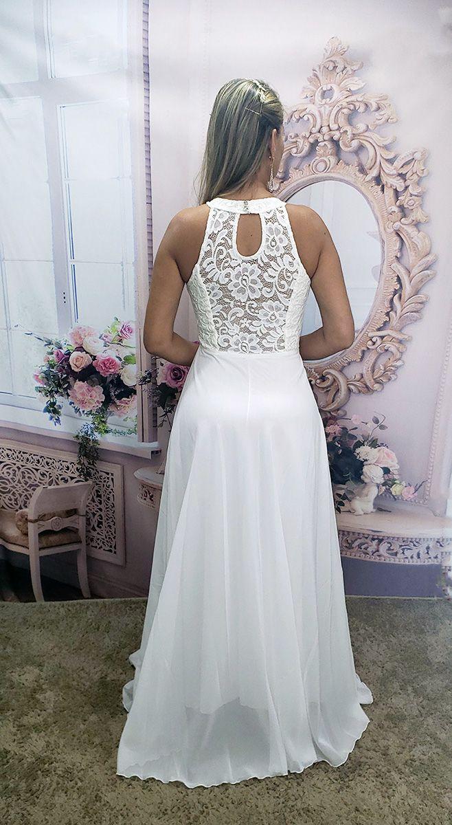 Vestido De Noiva Simples Casamento Praia Campo Civil