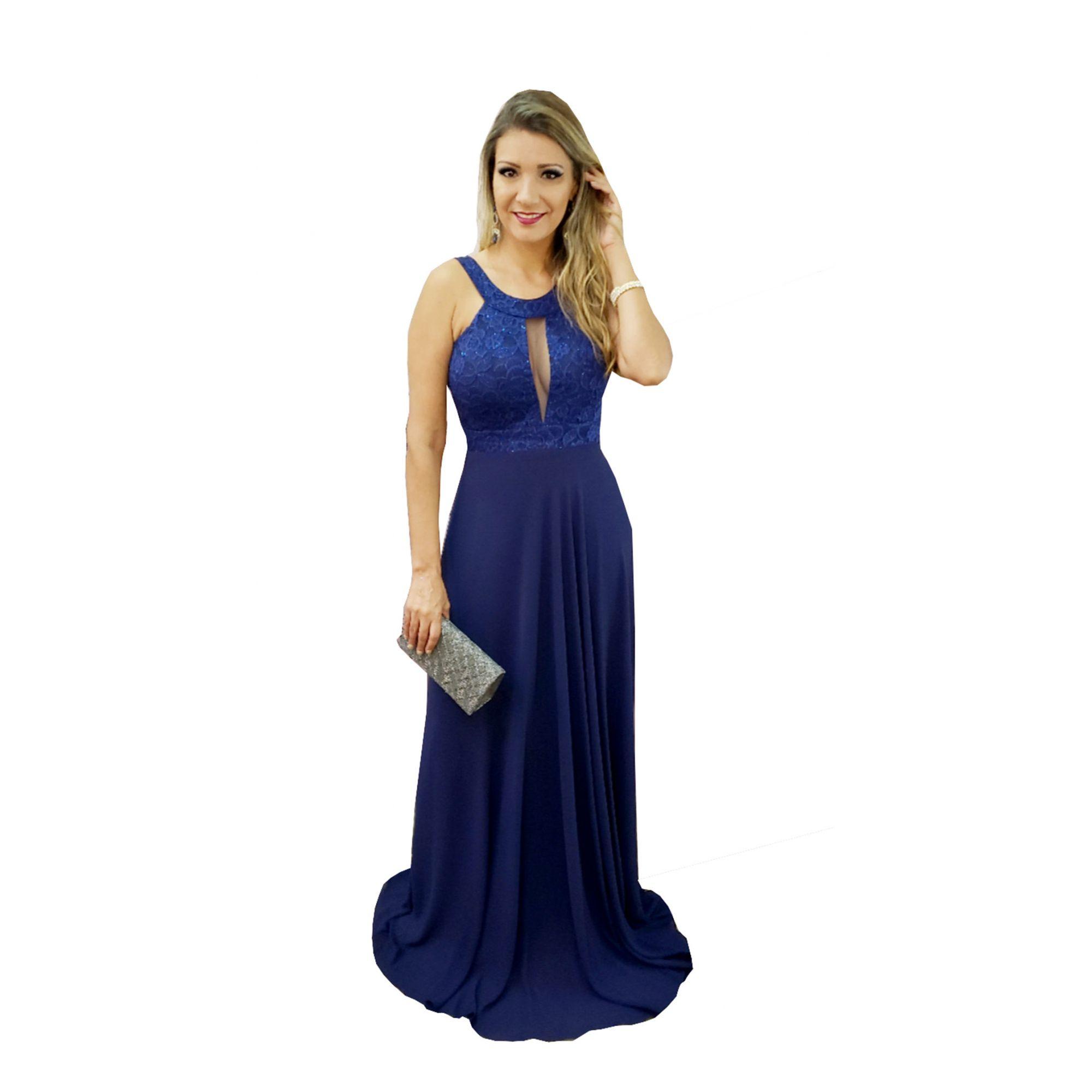 Vestidos de madrinha em azul
