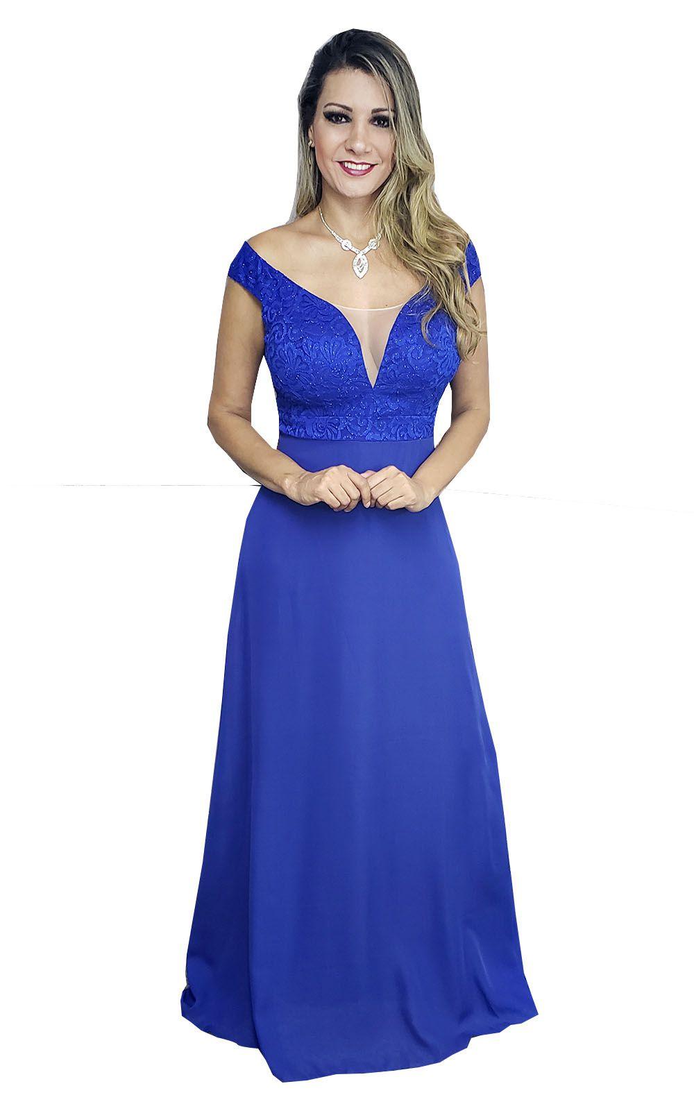 Onde comprar vestido de festa azul royal