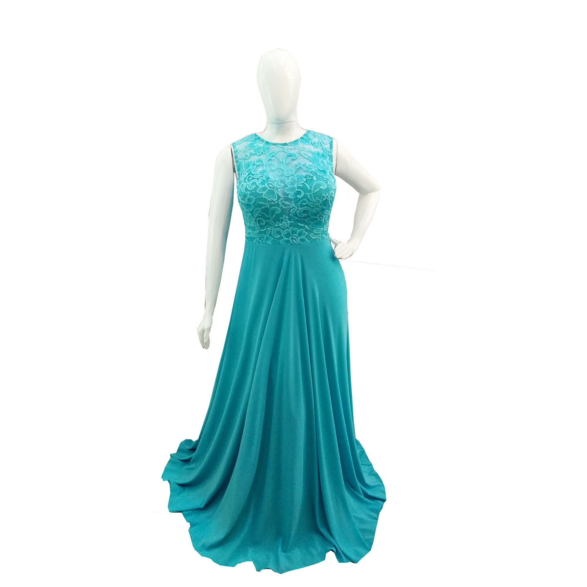 Vestido Festa Azul Tiffany Plus Size Madrinha Casamento