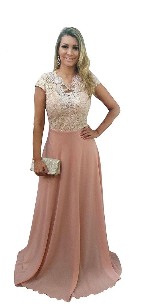 c395918bc7 Vestido Festa Longo Rose - Casamento