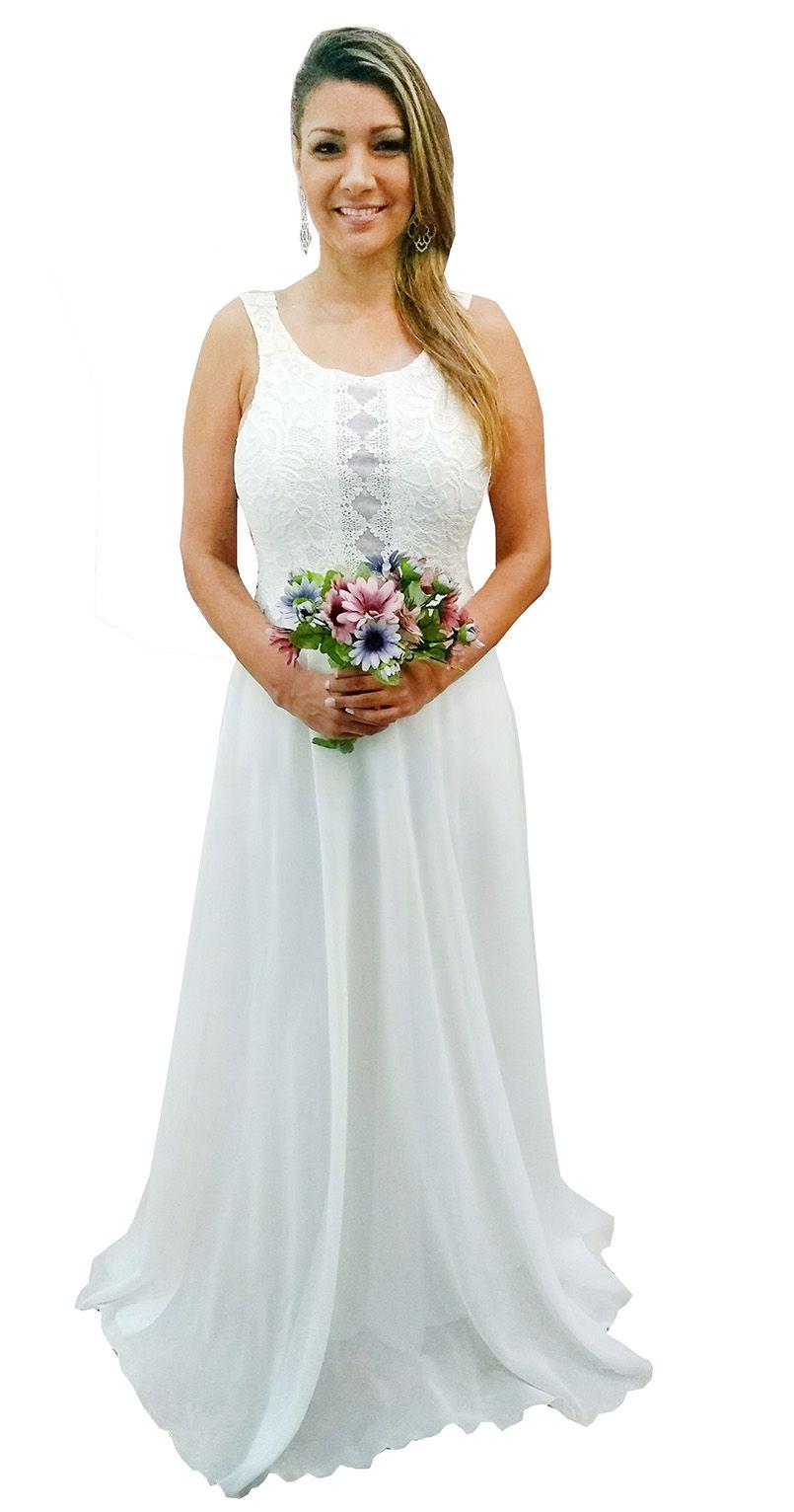 b8eb7dbc2 Vestido Noiva Simples - Renda Guipir, Casamento Lindo