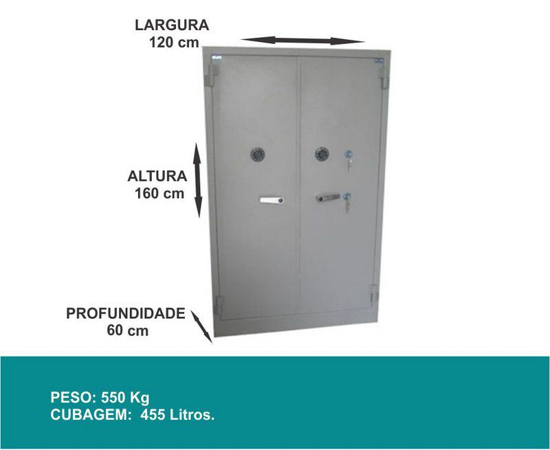 Armário Cofre - 1600 - Contra Fogo