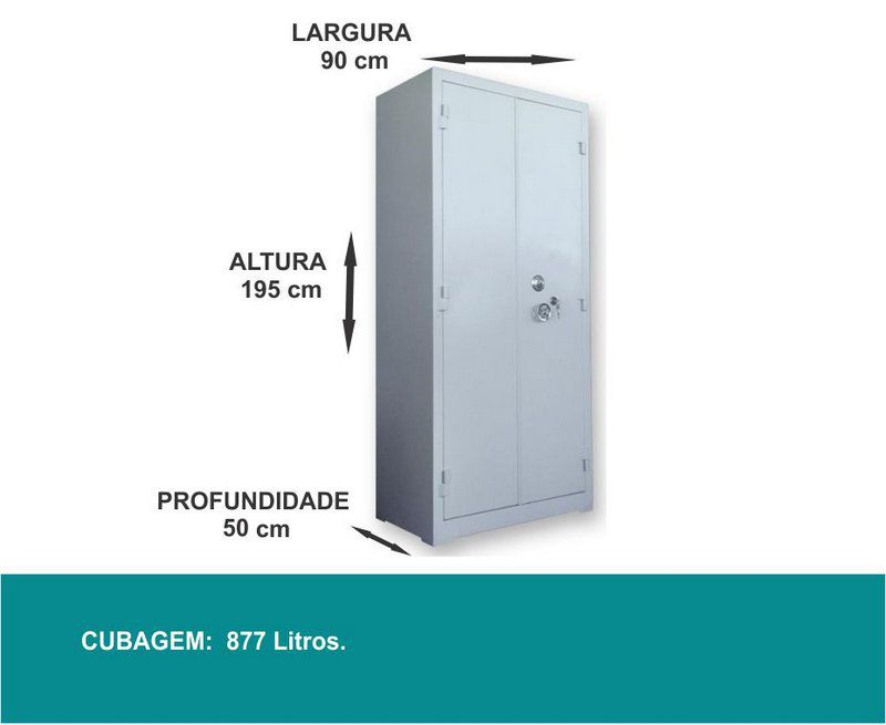 Armário Cofre Mecânico - AC 195 J