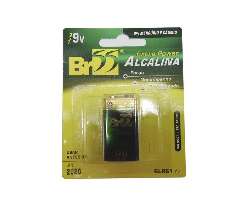 Bateria Alcalina - 9v