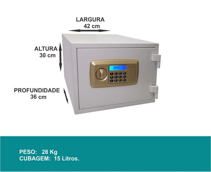 Cofre Eletrônico Digital - LC 30 D - Contra Fogo