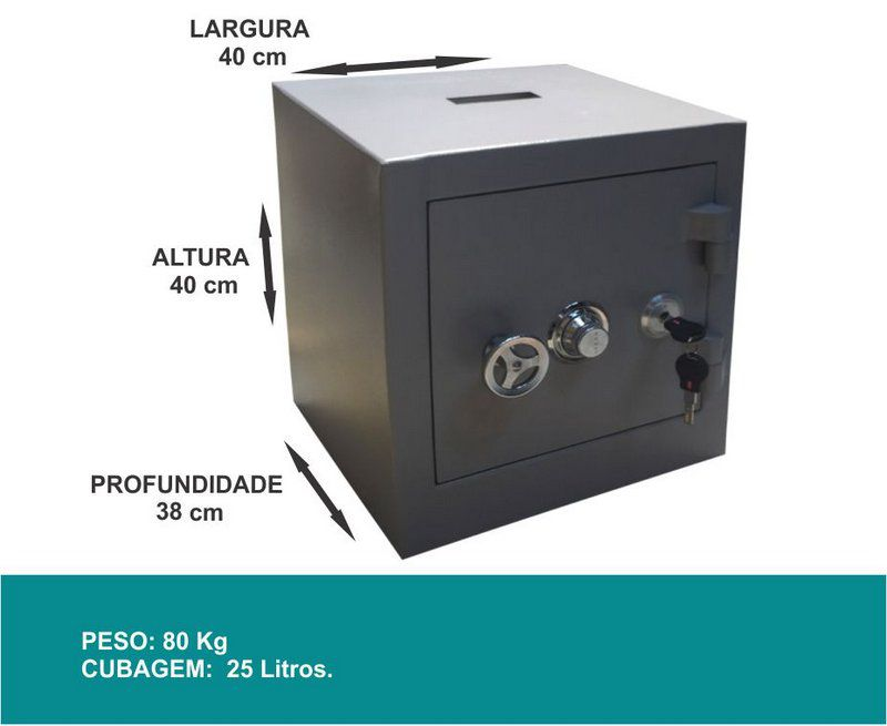 Cofre Mecânico Concretado - C40 Coletor