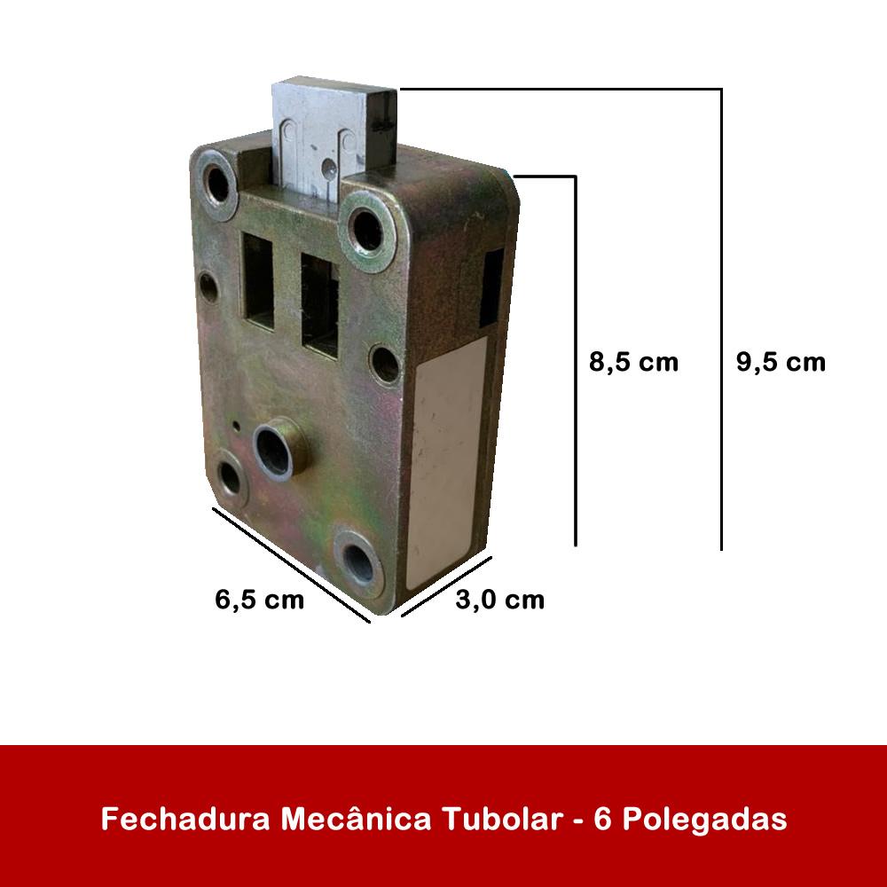 Fechadura Mecânica Tubolar - 6 Polegadas