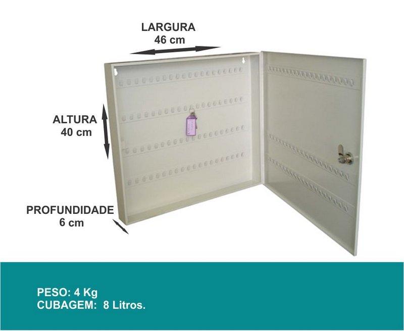 Porta Chaves - Claviculário - 140 Chaves - J