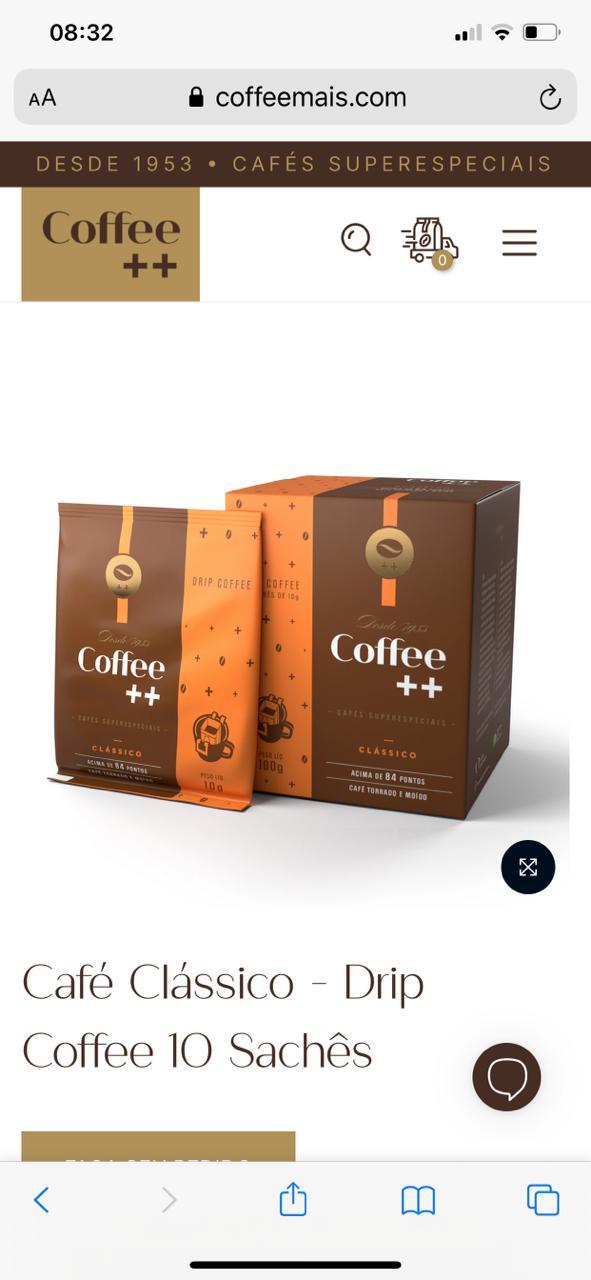 Café Clássico - Drip Coffee - Caffé Mais